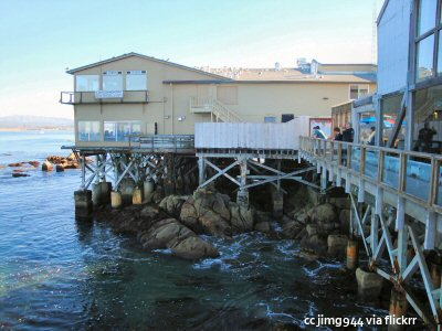The backside of Cannery Row in Monterey