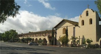Front view of Mission Santa Ines