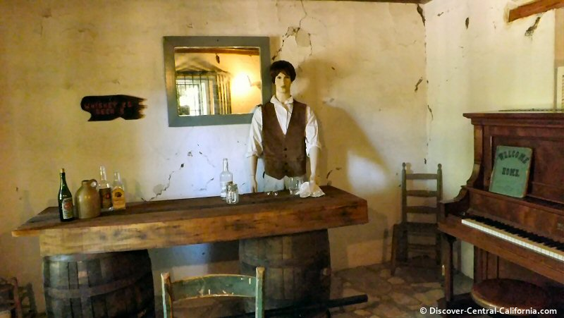 The old tavern room at the Rios Caledonia Adobe