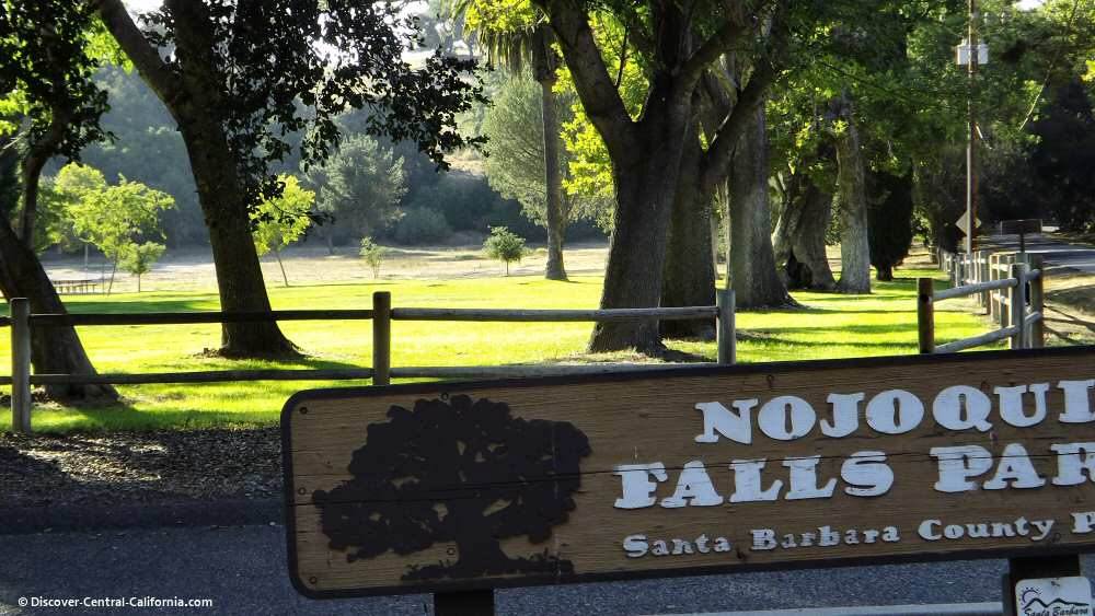 Entrance sign at the Nojoqui Falls Park