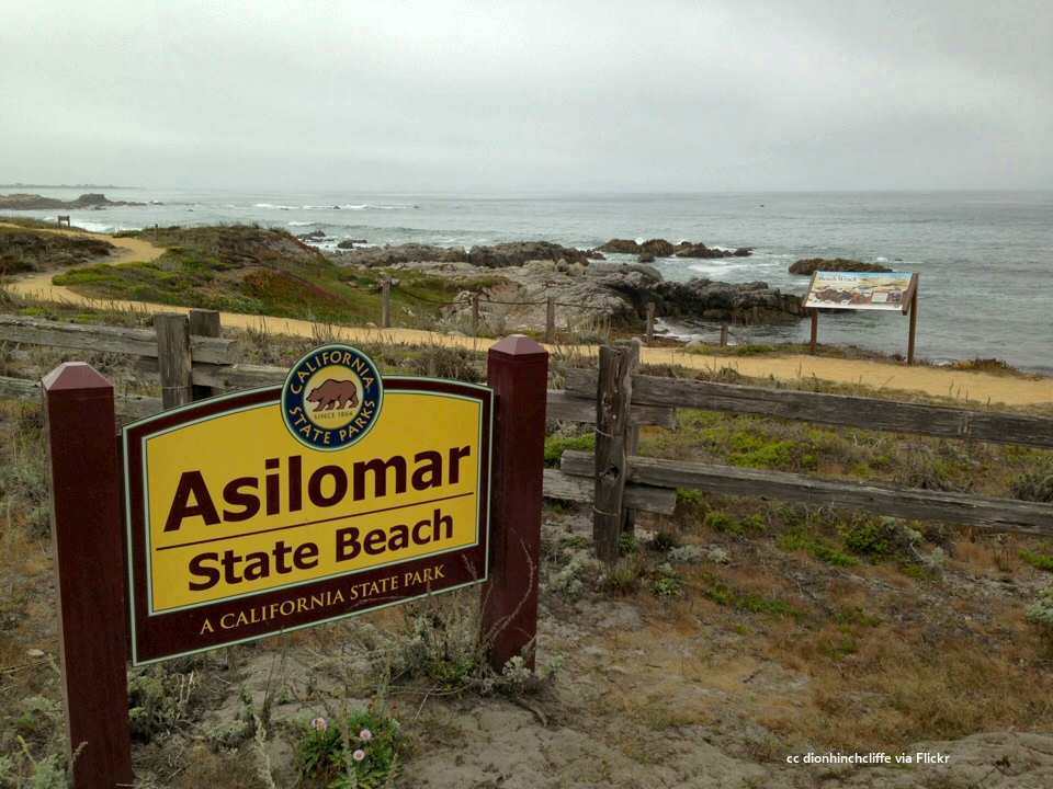 Asilomar Beach main sign