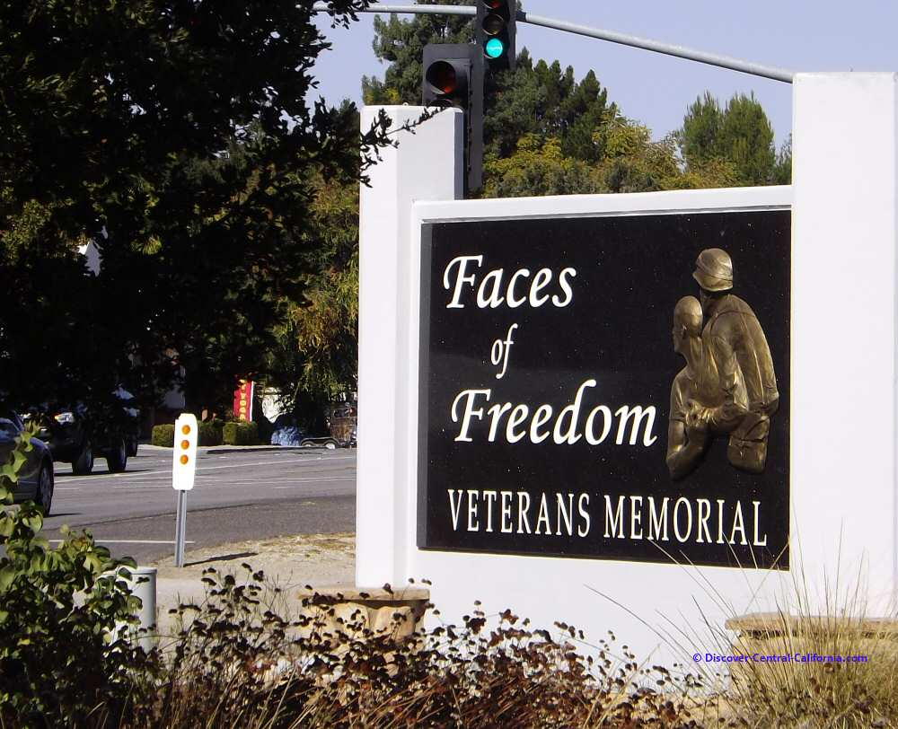 The main sign at the Atascadero Veterans Memorial