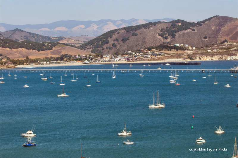 Avila Beach and Cal Poly piers