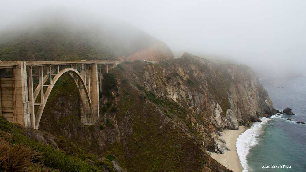 A foggy day at the Bixby Bridge