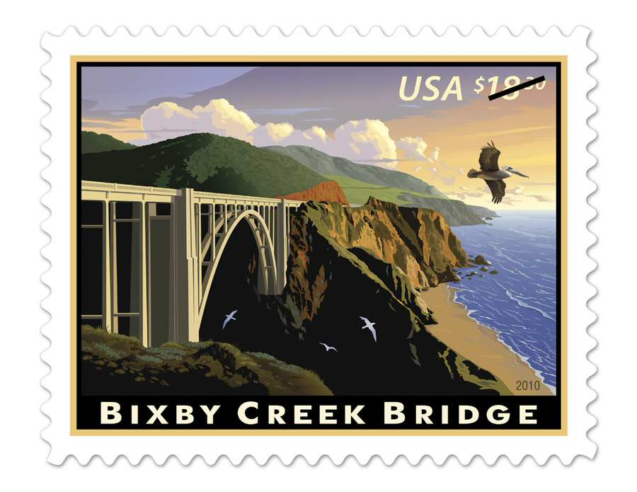 A US Postal Service stamp commemorating the bridge - 2010