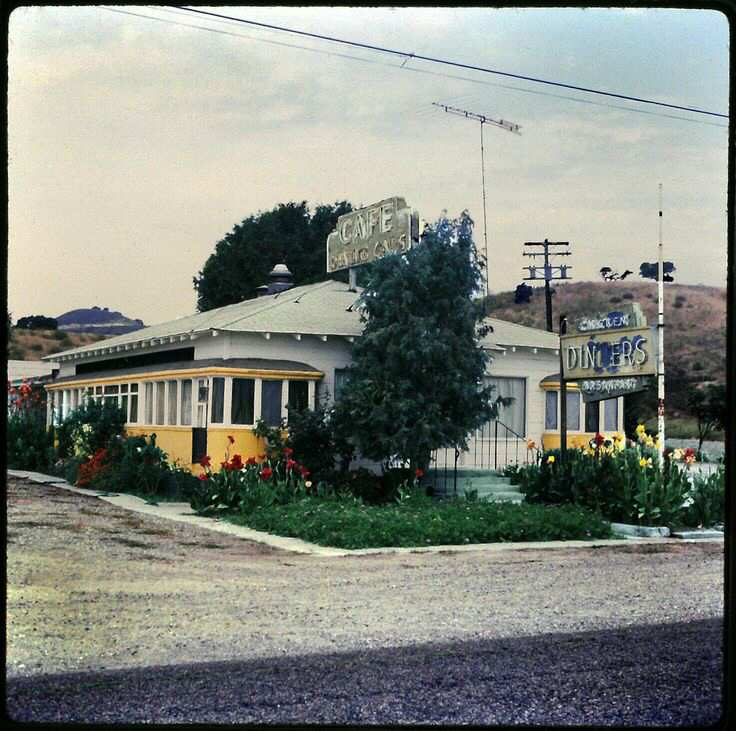 Buellton Streetcar Diner 1970's view from the front