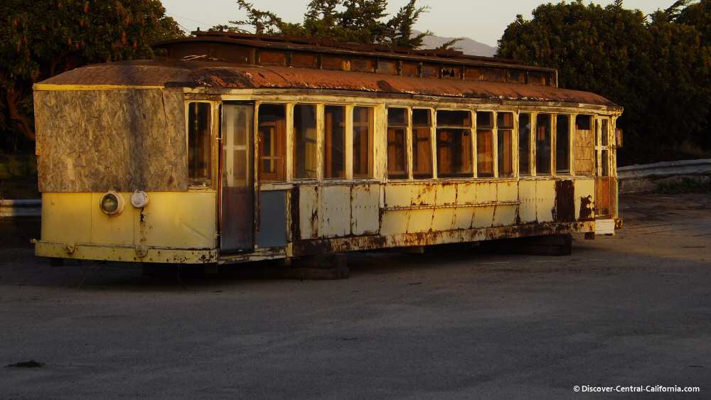 One of the Buellton dining cars in Morro Bay basking in the last of the sunshine