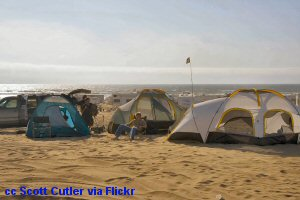 Beach c&ing at Oceano Dunes SVRA. California ... & California Beach Camping - Pitching your tent RV or Fifth wheel ...