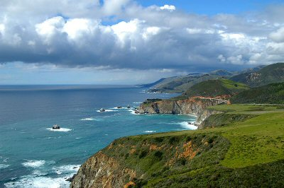 View of the Bixby Creek Bridge from Hurricane Point - Big Sur