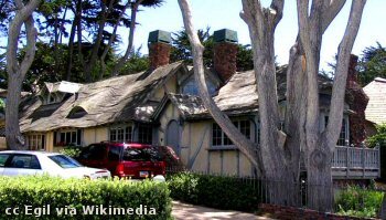 Interesting residential architecture in Carmel