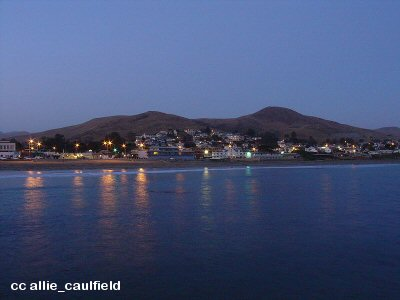 Evening view of Cayucos from sea