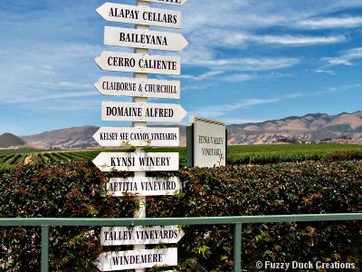 California Central Coast Wineries on