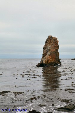 Lone rock off Garrapata beach