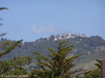 Hearst Castle viewed from Highway 1