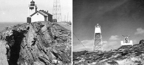 Early photos of the Point Arguello lights