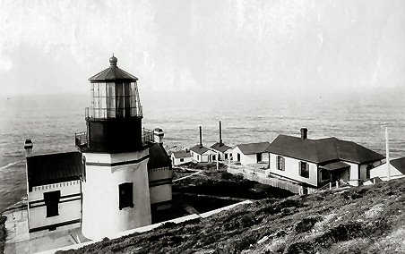 Historical photo of Point Conception lighthouse - 1882