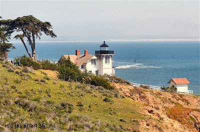 Seaward view of the Point San Luis lighthouse