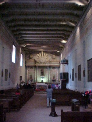 Interior of the Mission at San Miguel