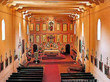 View of the main altar at Santa Ines from the choir loft