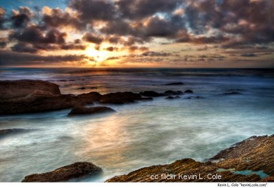 A fabulous HDR sunset at Montana de Oro by Kevin Cole