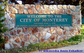 Monterey California welcome sign