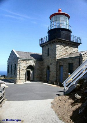 The actual lighthouse building at Point Sur