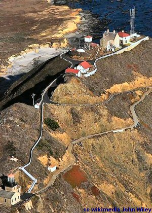 Aerial view of the Point Sur lightstation