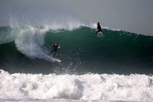 Big wave surfing in California