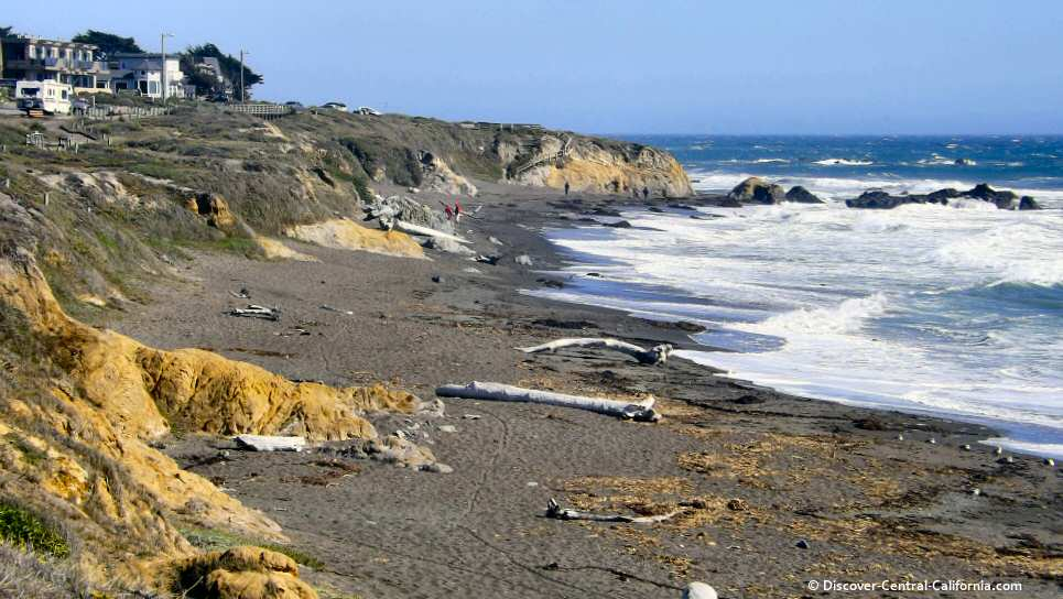 A Southerly View Of Moonstone Beach
