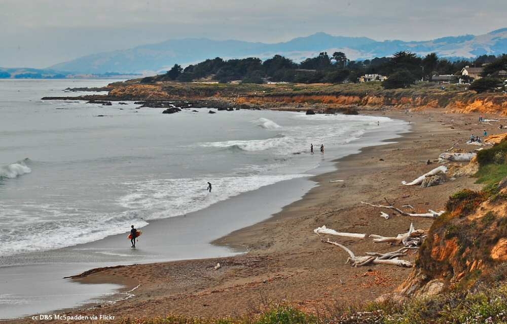 Northerly view of Moonstone Beach