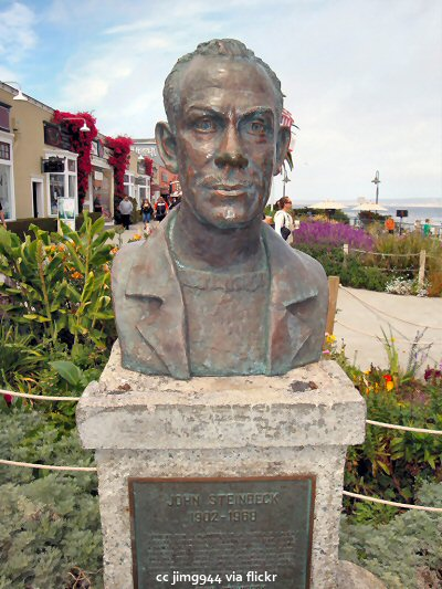 Bust of John Steinbeck in Cannery Row Plaza