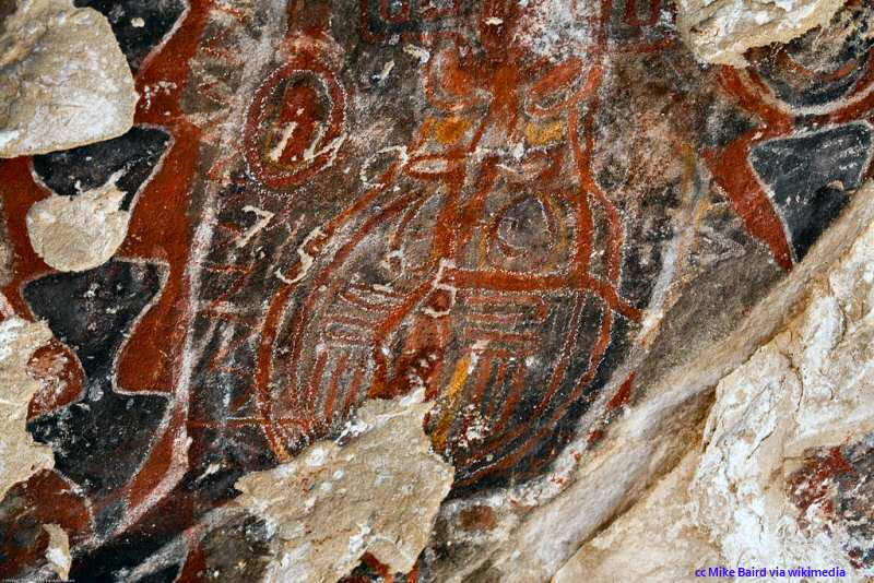 More pictographs from the Painted Rock in Carrizo Plain