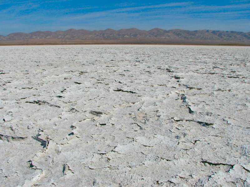 Summertime at Soda Lake - a view of the dried salts