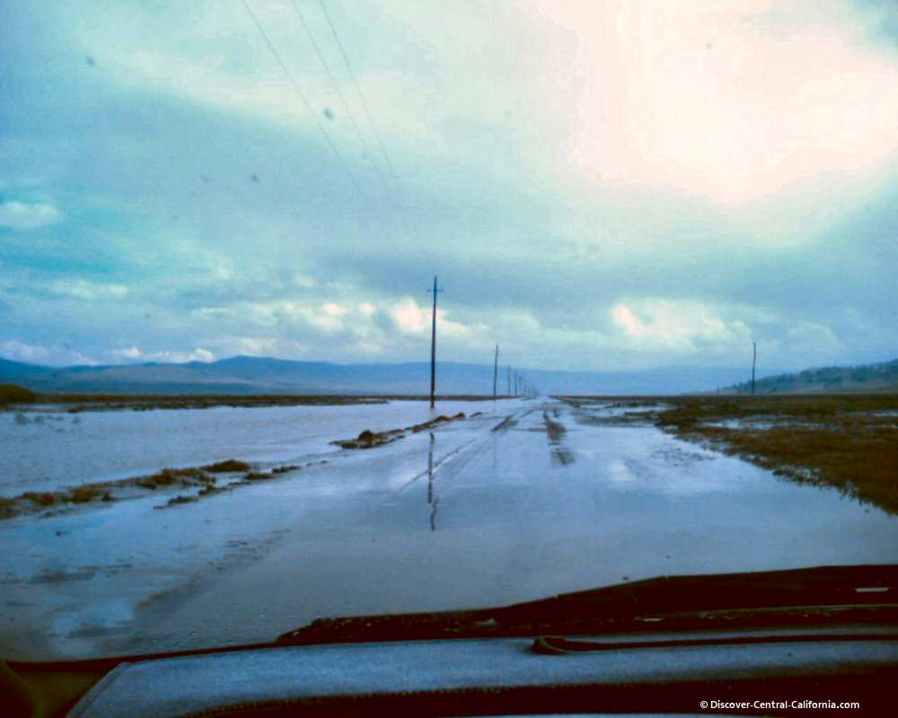 Cholame Valley Road flooded