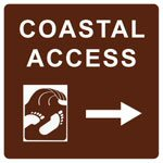 California coastal access sign
