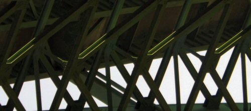 Close-up of the underside of the Cold Spring Bridge