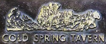 A detail from the plaque outside the Tavern