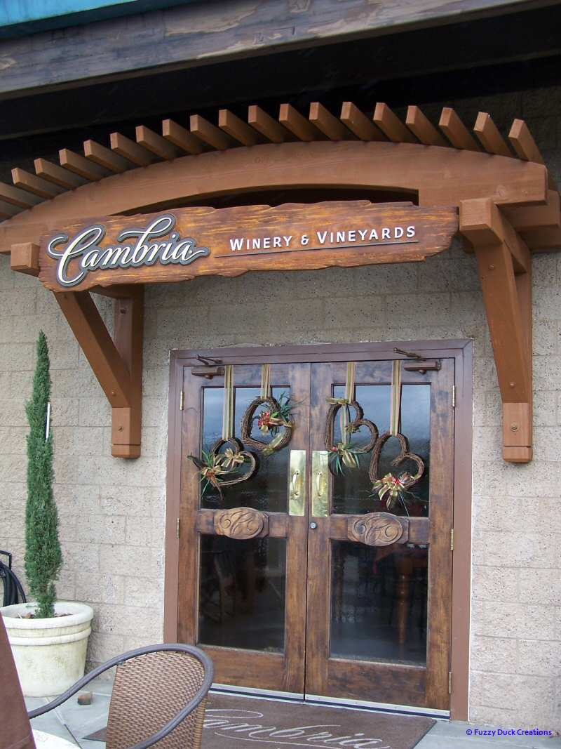 Cambria winery tasting room on the Foxen wine trail