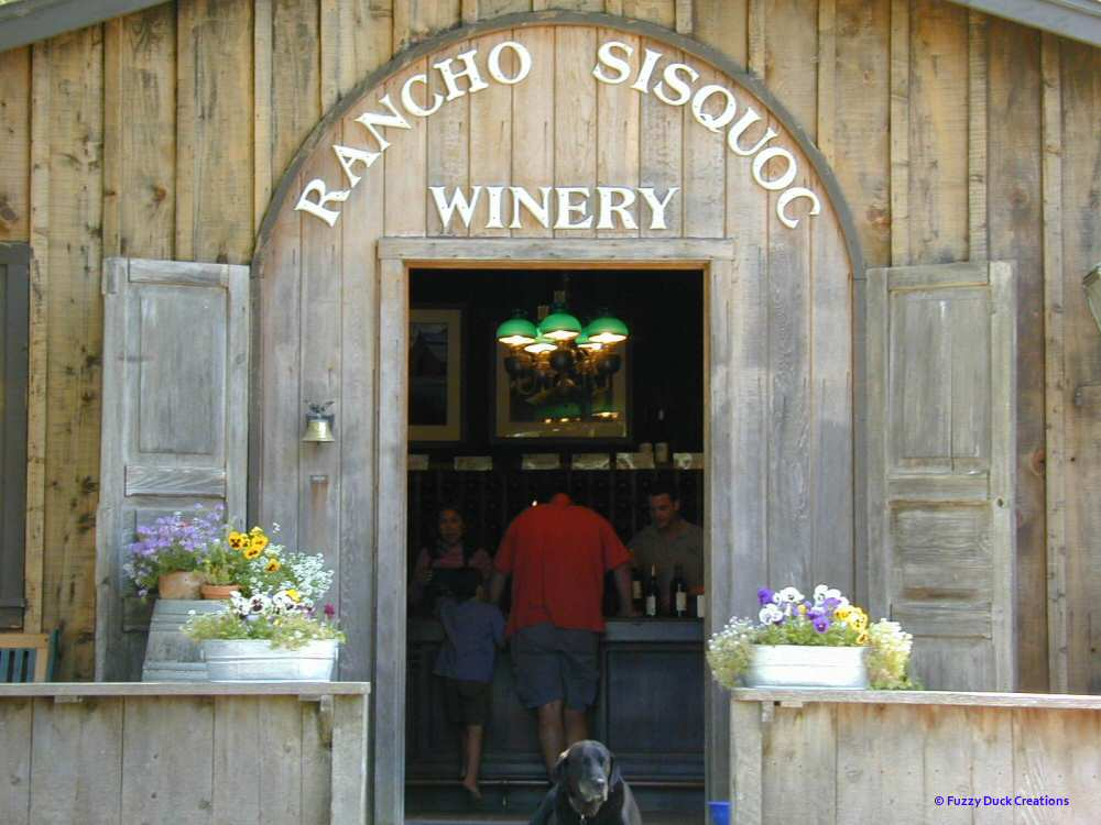 The Rancho Sisquoc tasting room