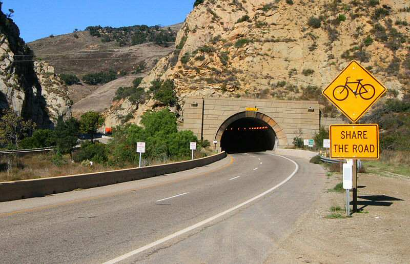 Gaviota Pass tunnel northbound