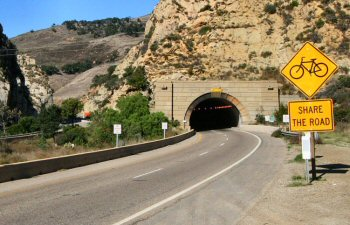 The Gaviota tunnel on Highway 101