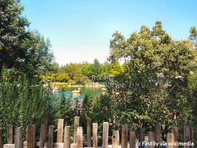 A view of the Gilroy Gardens lake