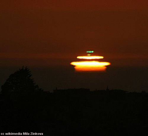 Green flash at sunset