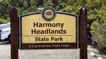 Main sign at Harmony Headland State Park