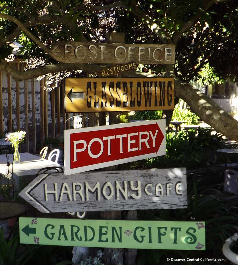 Harmony businesses directional signs