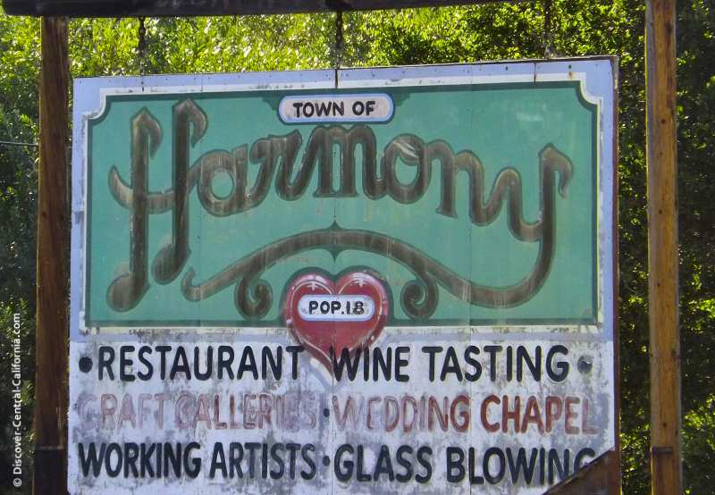 Old Harmony sign