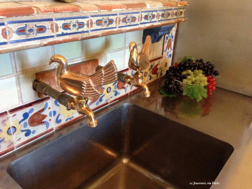 Decorative faucets in the kitchen