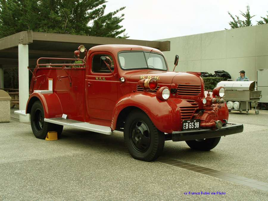 1930's vintage fire truck