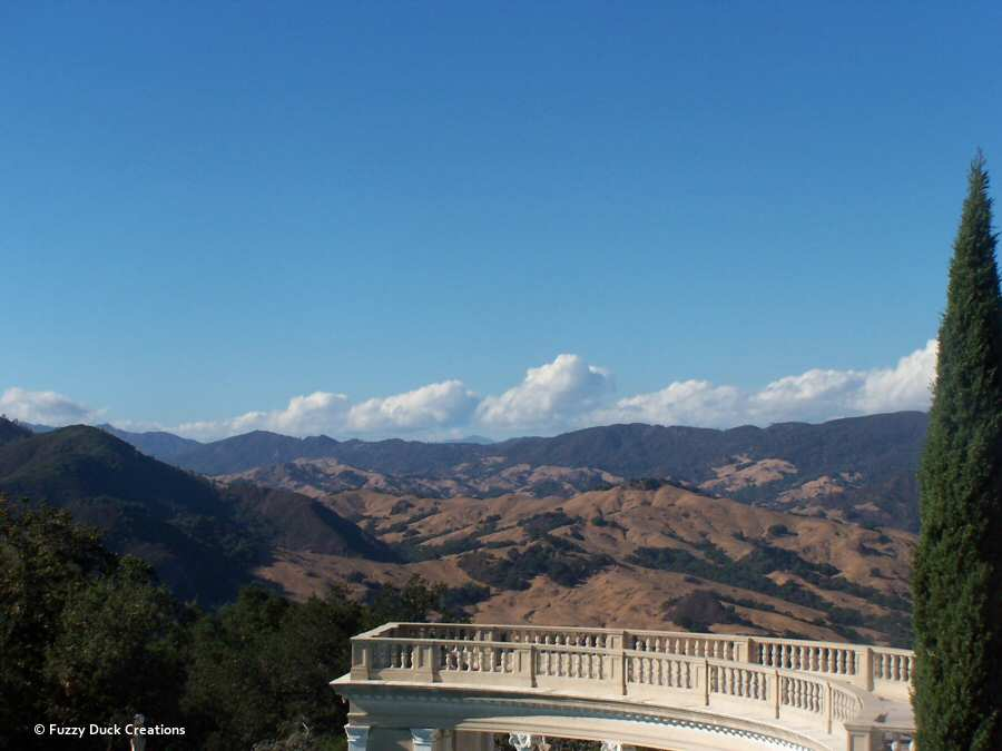 View over the Neptune Pool to the mountains