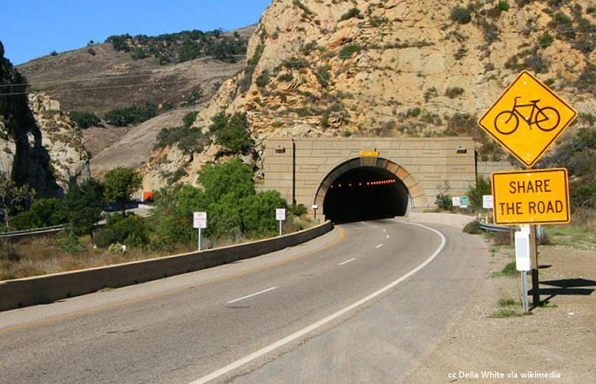 The Highway 101 tunnel at the Gaviota Pass